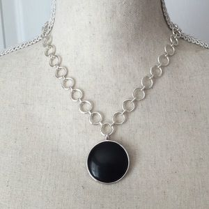 Jewelry - Black & Silver Pendant Necklace